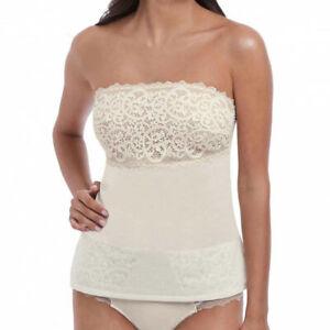 BNWT Wacoal Lace Essentiel Camisole Top Strapless Cream/Powder Medium