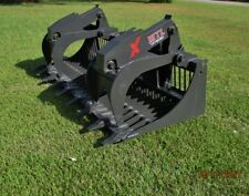 "MTL 80"" X series Rock Grapple Bucket w/teeth skid steer Bobcat -Ship $179"
