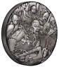 WARFARE – VIKINGS 2018 2oz Silver Antique HIGH RELIEF RIMLESS Coin 3D VIEW
