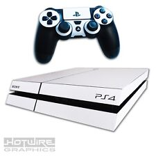 Playstation 4 PS4 Skin Sticker Kit - Pure WHITE - Fresh Scratch Resistant Cover