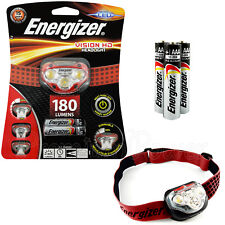 Energizer Vision HD Headlight LED 180 lumens Headlamp Head Torch 3 AAA batteries