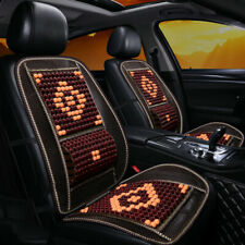 Car Front Seat Cover Wooden Beads Back Massage Cover Cushion Lumbar Support Cool