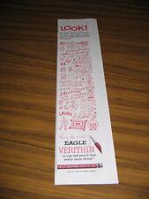 1957 Print Ad Eagle Verithin Carmine Red Pencils