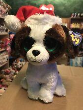 Ty Presents -Brown/White Holiday St. Bernard 10� Beanie Boo Buddy *Retired* Vhtf