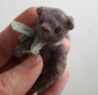 Miniature teddy bear. Ooak teddy bear. Old classic teddy bear. Vintage looking