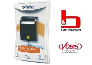 MANHATTAN Lettore/Scrittore di Smart Card Usb 2.0 -  Specifico per CNS/CIE e CRS