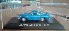 "DIE CAST "" ALPINE A110 1300 S - 1971 "" SCALA 1/43 ATLAS EDITION"
