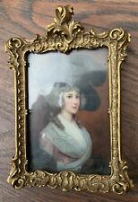 Antique Frame Rococo For Miniature Portrait Gold Gesso Wood Ornate