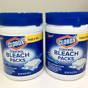 CLOROX Zero Splash Bleach Laundry 2 Packs of 12 count No Mess/ Easy Control