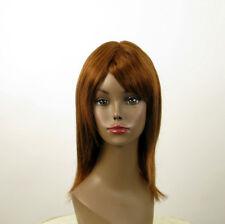 perruque AFRO femme 100% cheveux naturel châtain clair cuivré KOKO 02/30