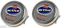 2x Punch Active Dubbin Neutral 50ml Tin Waterproofs Leather Shoe & Boot Wax