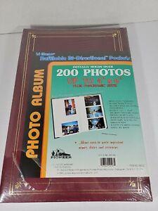 Vintage Pioneer 4 x 6 Photo Album Holds 200 BP-200 Red Picture Album