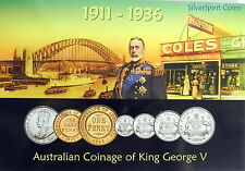 1911-1936 AUSTRALIAN COINAGE of GEORGE V MINT Australian Coin Set