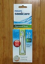 2 PACK SONICARE DIAMONDCLEAN REPLACEMENT TOOTHBRUSH TOOTH BRUSH HEADS SONIC CARE