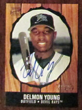 DELMON YOUNG BOWMAN HERITAGE AUTO ROOKIE AUTOGRAPH CARD MLB BASEBALL