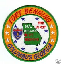 US ARMY POST PATCH, FORT BENNING, COLUMBUS GEORGIA, 11TH INF REG         Y