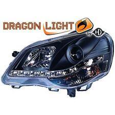 Paar scheinwerfer TUNING VW POLO 9N3 05-09 schwarze Dayline LED DRAGON LI