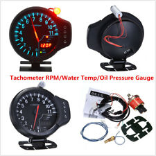 Universal 3 in 1 Car Tachometer 0-11000 RPM/Water Temp Gauge /Oil Pressure Meter