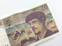 1980 France 20 Vingt Francs Circulated Banknote KM 151a Claude Debussy T562
