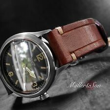 Müller&Son 22 mm Brown Genuine Wickett & Craig Leather Watch Strap Deployment