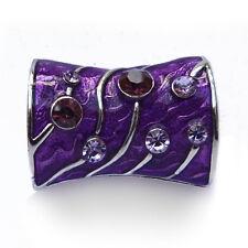 tube bijoux passant Anneau à foulards fin type soie ou mousseline violet cristal