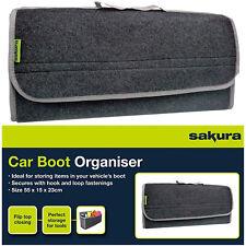 Sakura Car Grey Carpet Boot Storage Bag Organiser Tools Breakdown Travel Tidy