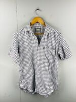 Aertex by Summit Men's Vintage Short Sleeve Outdoor Shirt Size M White Check