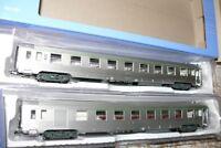 HS Jouef HJ4100  Zweiteiliges Set  DEV Inox  Personenwagen  der SNCF Ep IV