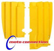 New Polisport RMZ 450 08-15 Radiator Louvres Rad Plastics Yellow Motocross