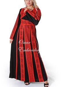 Thobe Abaya Palestinian Jordanian Embroidered Traditional caftan Dress