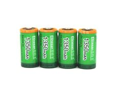 Etinesan 4PCS 1350mah Cr123a 3V LiFePO4 LITHIOM  rechargeable battery