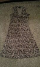 Mossimo Women'sWrinkle Free Black & Tan animal print Dress Small - short summer