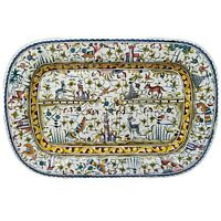 "Williams Sonoma 23"" Provence Large Hand Painted Serving Platter Made in Portugal"
