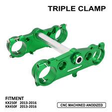 Triple Tree Clamps Steering Stem For Kawasaki KX250F 450F 2013-2016 Green