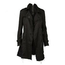 ALL SAINTS HARLEQUIN BLACK LINEN TRENCH STYLE WOMEN'S COAT UK8 EU34 US6