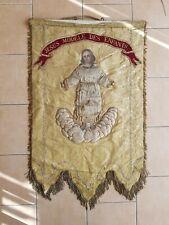 Bannière De Procession Banderolle Fagnion Eglise Ancienne Religieuse