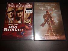RIO BRAVO & WYATT EARP-2 movies-JOHN WAYNE, KEVIN COSTNER, RICKY NELSON