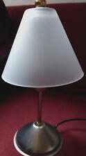 Neuw. Metall m. sat. Glas-Tischleuchte Esstisch - Nachtisch - Wohnzimmerlampe