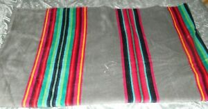 "PENDLETON GREY & SERAPE STRIPES POOL, SPA, BEACH TOWEL. 70"" BY 40"""