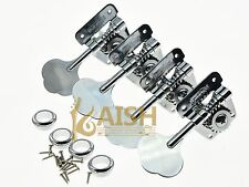 Wilkinson 4 Left Handed Bass Tuners WJBL-200 Tuning Keys Machine Heads Chrome