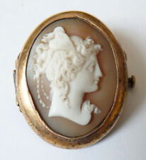 Broche camée 19e siècle cameo profil de femme