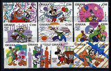 Ghana 1754-1763, MNH, Disney characters 1995. x19183