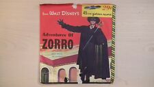 Golden Record from Walt Disney's ADVENTURES OF ZORRO 45 RPM 50s