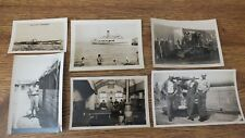 Small lot of ww2 snapshots (6) Smaller in size, mixed assortment.