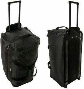 Large Folding XXL Trolley Sports Luggage Bag Holdall Overnight Travel Wheeled
