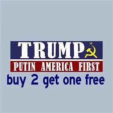 TRUMP 2020 PUTIN AMERICA FIRST Bumper Sticker - Sickle & Hammer GoGoStickers