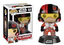 Poe Dameron Star Wars Pop! FUNKO NIB Vinyl Figure 62 The Force Awakens NIP