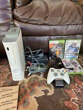 Microsoft Xbox 360 60gb Console Bundle + Controller & 3 Games