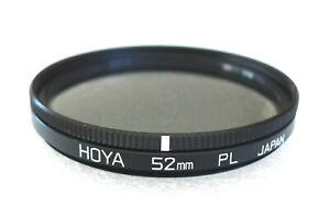 52mm Hoya PL Polarizing Filter - Linear Polarizer - PERFECT