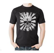 T-Shirt Biker Harley Davidson Route 66 Motorrad Bone Skull Schädel Punk Motiv 35